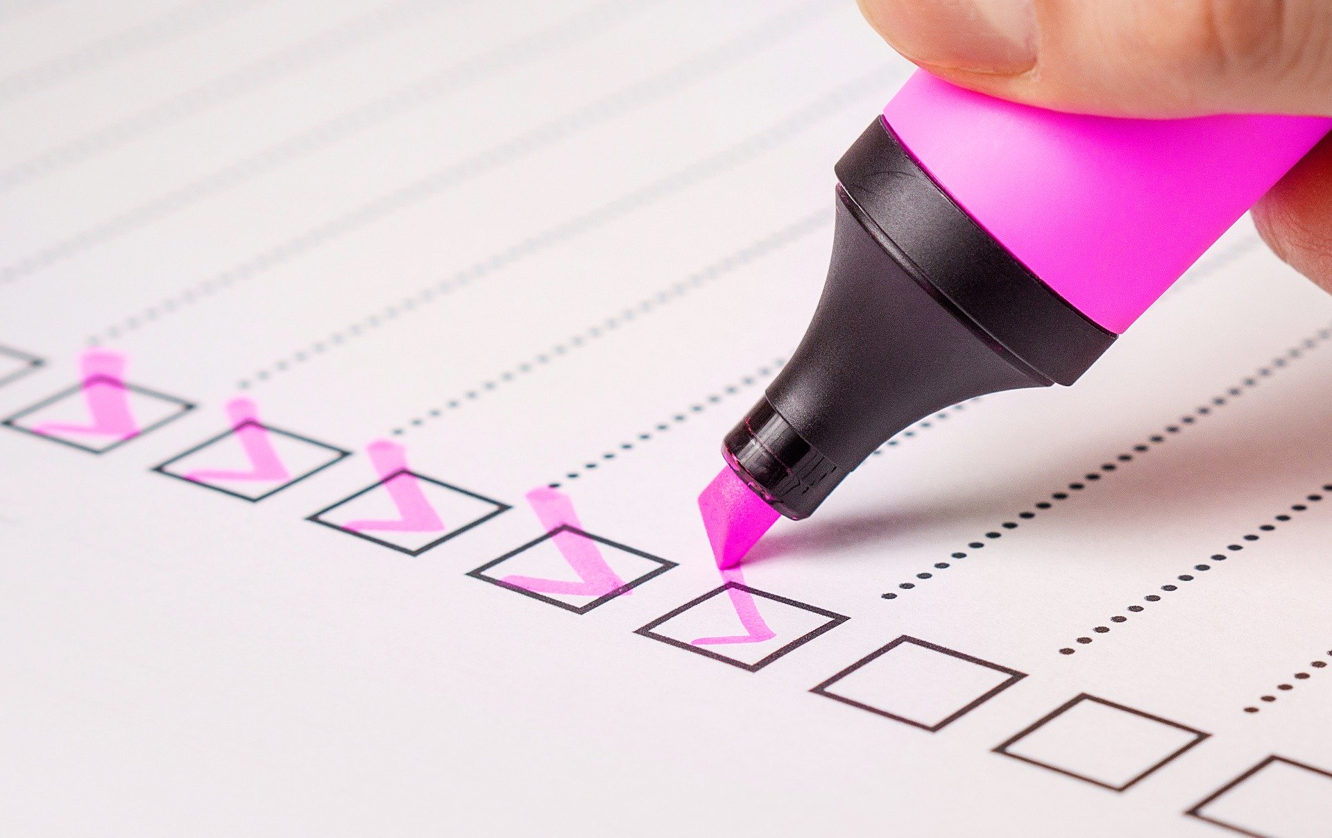 hospitality furniture quality control checklist