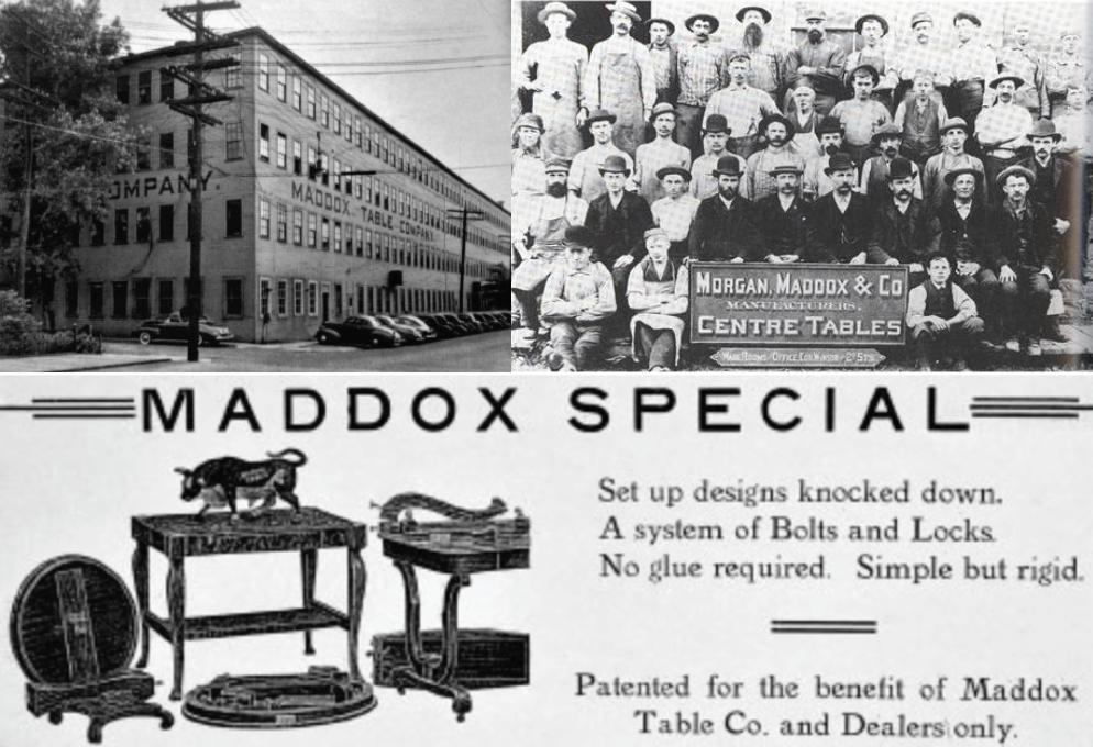history of furn_maddox table